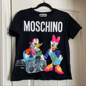 H&M x moschino x Disney black tee shirt small